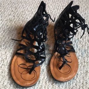 Rampage gladiator lace up sandals